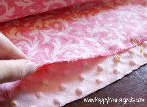 Simple Minky Baby Blanket- very easy! Good for a first sewing project (For my grandbabies)