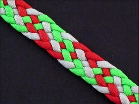How to Make a 6-Strand [Double Helix] Flat Braid Bracelet by TIAT - YouTube