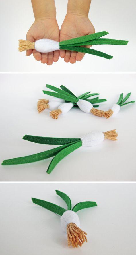 Bebé ducha cebolla verde fieltro orgánico bebé juguete niño regalo juguete ecológico niños regalo para bebé finja el juego comida fieltro frutas set de juguete