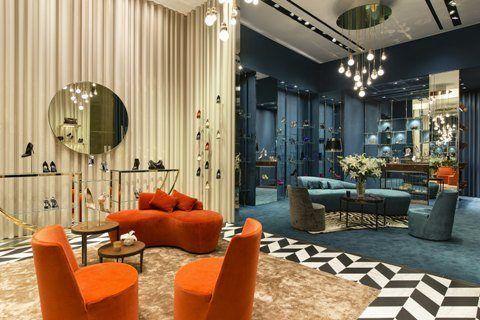 LEA armchairs, design Paola Navone for Casamilano  @ Sergio Rossi boutiques worldwide.  Photo courtesy of Sergio Rossi.
