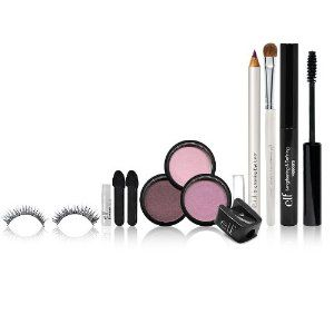 E.l.f. Cosmetics Large Get The Look Set, Purple by e.l.f. Cosmetics. $7.00. Detailed intructions to help you bring out your natural beauty. Reflect your own personal style. Get your look whenever wherever. Set includes 3 eyeshadow pots, 1 mascara, 1 eyeliner pencil, 1 eyeshadow brush, 1 sharpener, 2 eyeshadow applicators, 1 false lashes with glue.