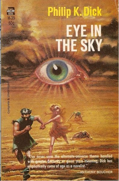 Eye in the Sky, Philip K. Dick (1968 edition), cover by Kelly Freas