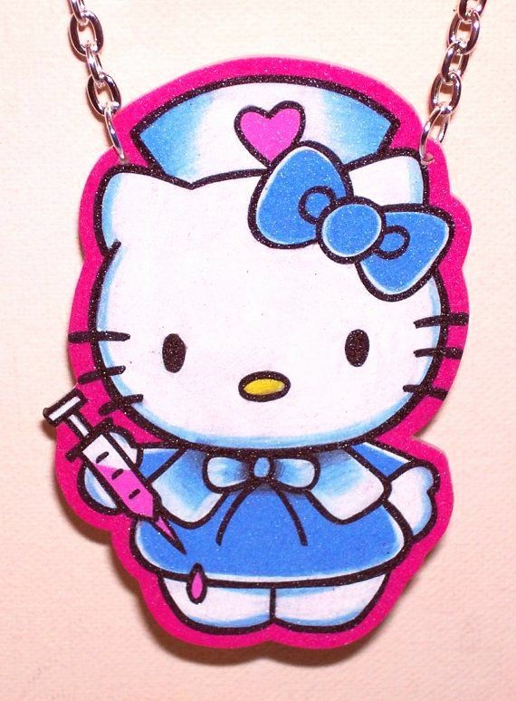 Nurse Life Coloring Book New Nurse Hello Kitty Style My Jewelry Art Hello Kitty Tattoos Nurse Tattoo Hello Kitty
