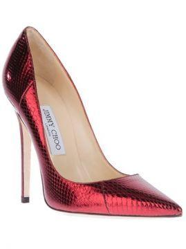 Jimmy Choo Sapato Vermelho Metalico. - Vitkac - Farfetch.co