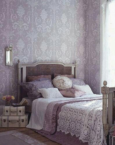... The Color Scheme, The Vintage Luggage, The French Bed, And The Bedding.  All Of These Details Featured An Elegant And Romantic Bedroom.