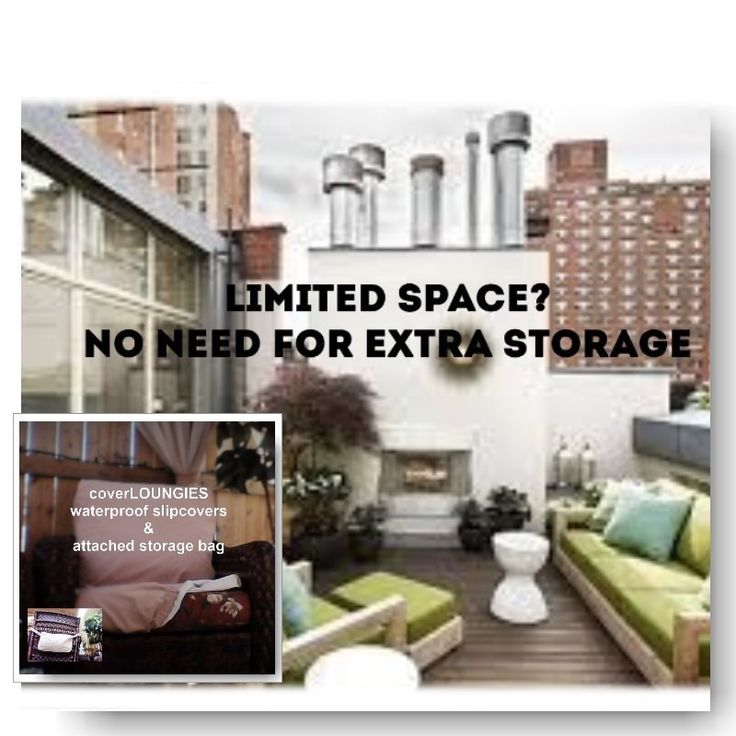 No extra storage needed with CoverLOUNGIES©