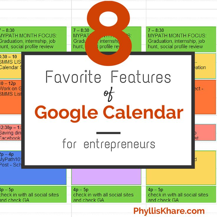 8 Favorite Features of Google Calendar for Busy Entrepreneurs <- super time management ninja tips in this one.
