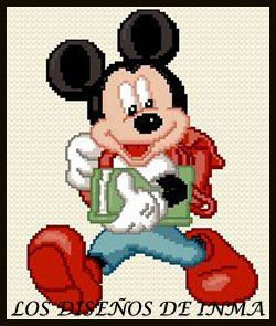 PDF Gráfico Punto de Cruz, Disney 13, Disney Punto de Cruz, Disney, Disney Cross Stitch Pattern