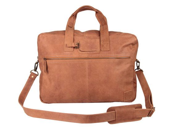 Leather Holdall - Weekend Bag - Overnight Bag in Vintage Cognac by MAHI Leather