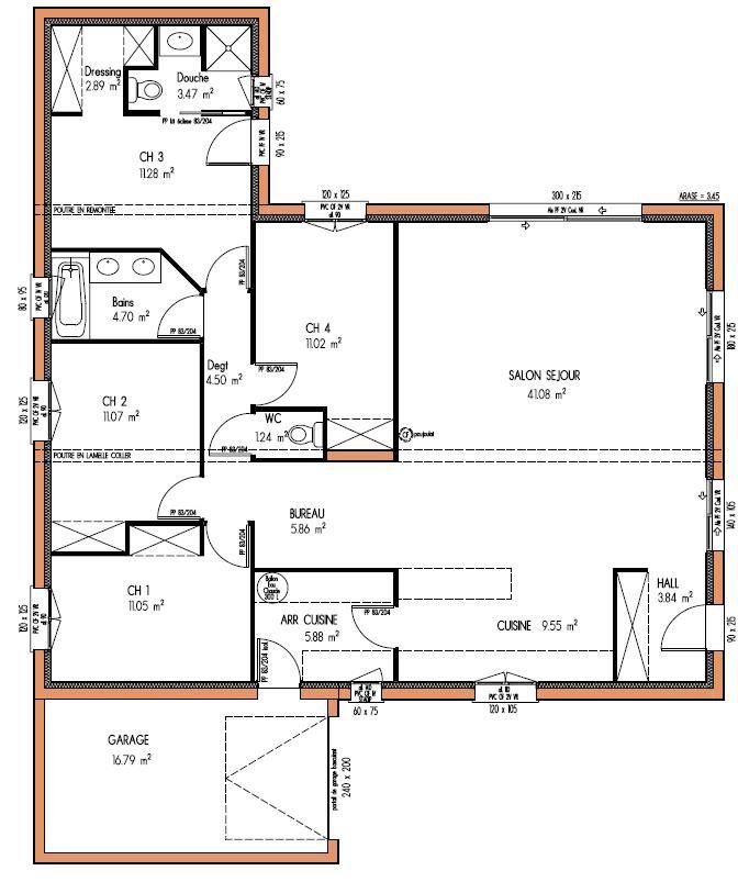 MAISON design 123 m² 4 chambres
