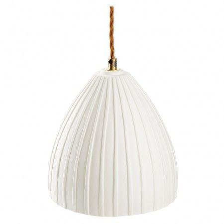 Elder Bone China Pendant Small Dome White