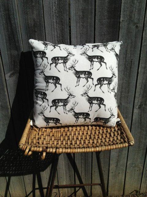 Oh Deer Me. 40x40cm Deer Print Cushion $AUD20