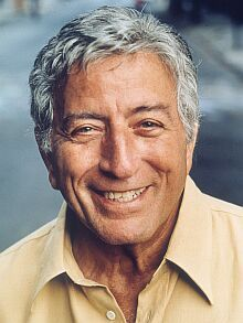 Tony Bennett - A nice color portrait photo of a legendary singer.