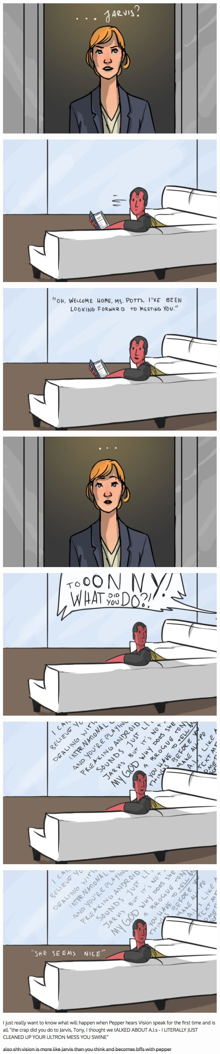 When Pepper meets Vision || Pepper Potts, Vision || #fanedit #humor
