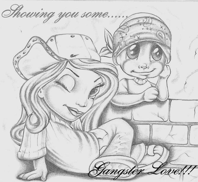 Chicano Art Coloring Pages Mexican Drawings La Cholos gangsta love graphics and