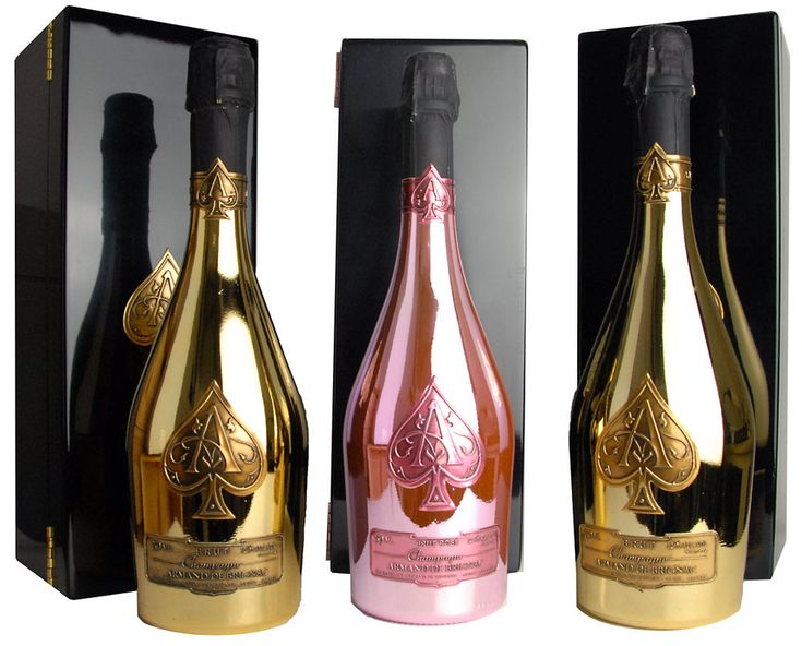 Armand de Brignac Ace of Spades Gold and Ace of Spade Rose. We will be seeing this for New Years too. PD