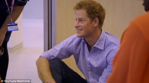 WellChild Patron Prince Harry shows his doting side as he appears in the video...
