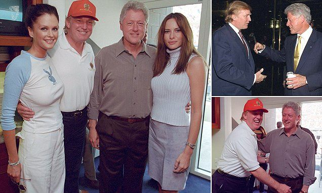 The Clinton Presidential Library released pictures of Donald Trump and Bill Clinton taken in June 2000 at a New York fundraiser, and of the two men seemingly hitting it off in a private box at the U.S. Open at Flushing Meadows in September of the same year. (10 September 2016) -- SIXTEEN years ago...storm in a teacup and much 'ado about nothing.