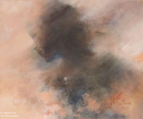 Madeleine Tailleur, 'Transparence', 20'' x 24''   Galerie d'art - Au P'tit Bonheur - Art Gallery