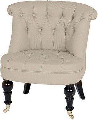 Мягкое кресло без подлокотников из неотбеленного льна Eichholtz Chair Camden