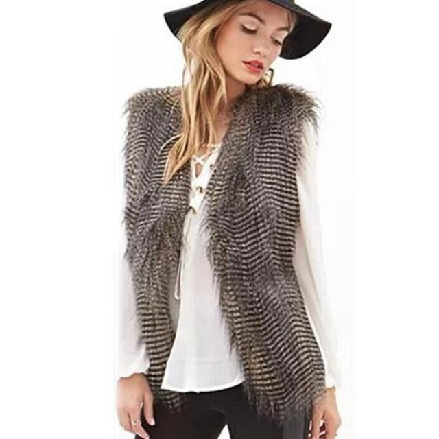 Sleeveless Vest Coat - Faux Fur Long HairJacket http://ros-variety.myshopify.com/products/sleeveless-vest-coat-faux-fur-long-hairjacket?utm_campaign=crowdfire&utm_content=crowdfire&utm_medium=social&utm_source=pinterest