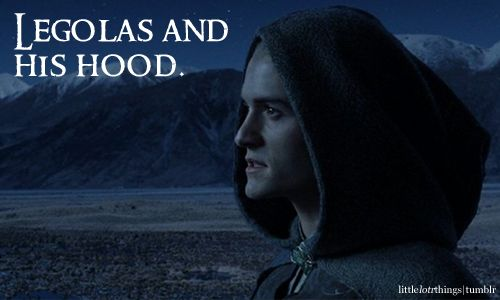 Legolas and his hood. The BEST combination ever. NOBODY rocks a hood like Legolas. Your argument is invalid. ;)