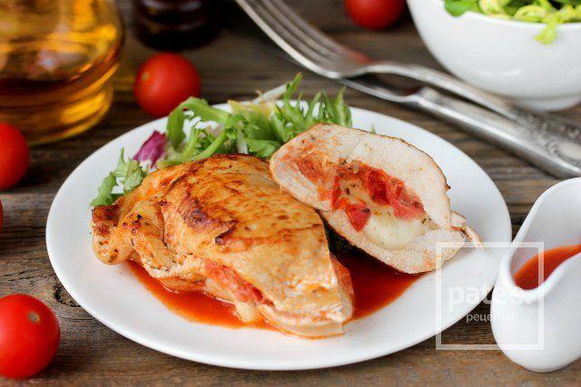 Куриные грудки, фаршированные моцареллой и помидорами - Шаг 12