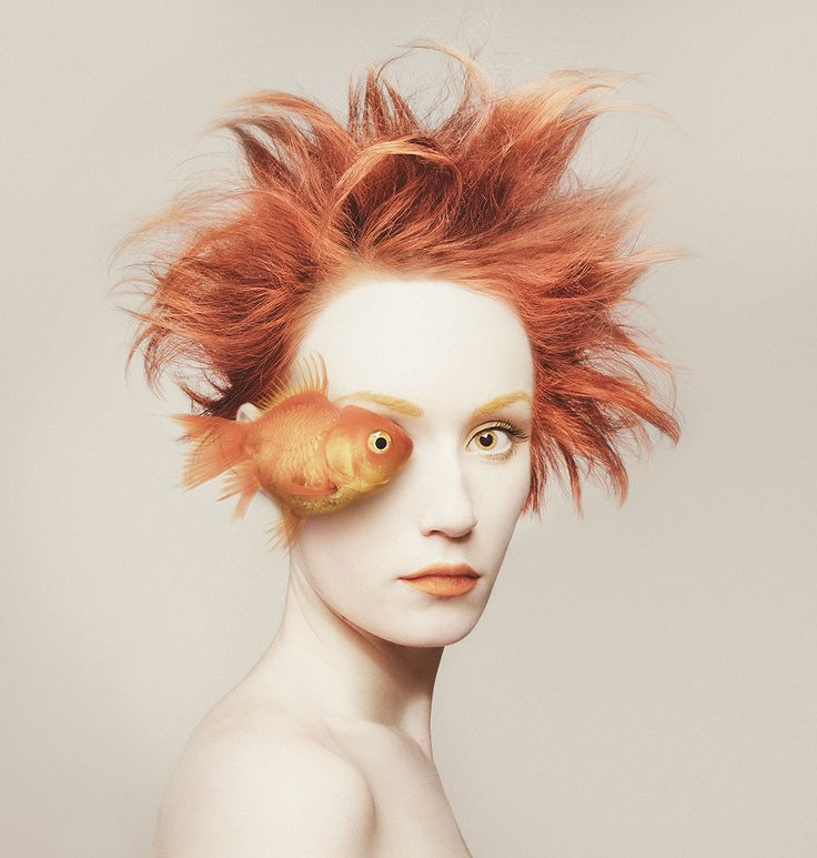 Hungarian photographer Flóra Borsi has made a name for herself with exceedingly clever photo manipulations. Like her imaginative Photoshop In Real Life, she's turned the lens on herself this time for a series of portraits that replace one of her eyes with that of an animal. She calls it Animeyed.