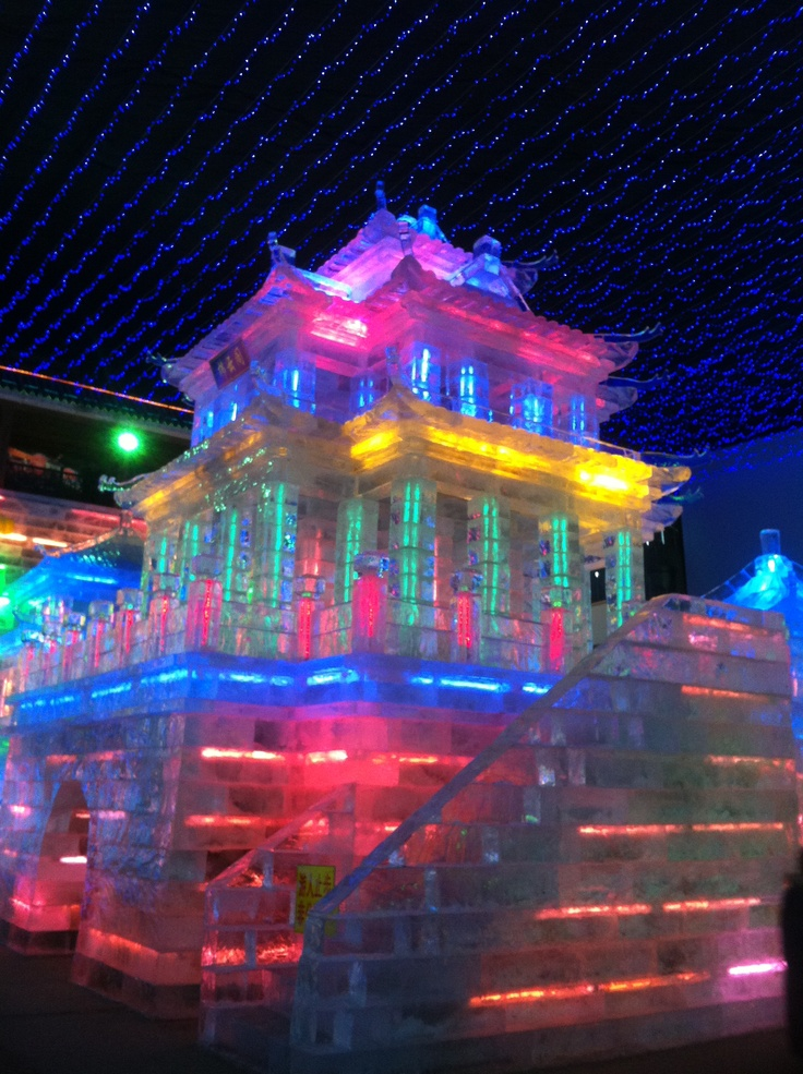 Ice Sculptures, Yanqing outside Beijing China