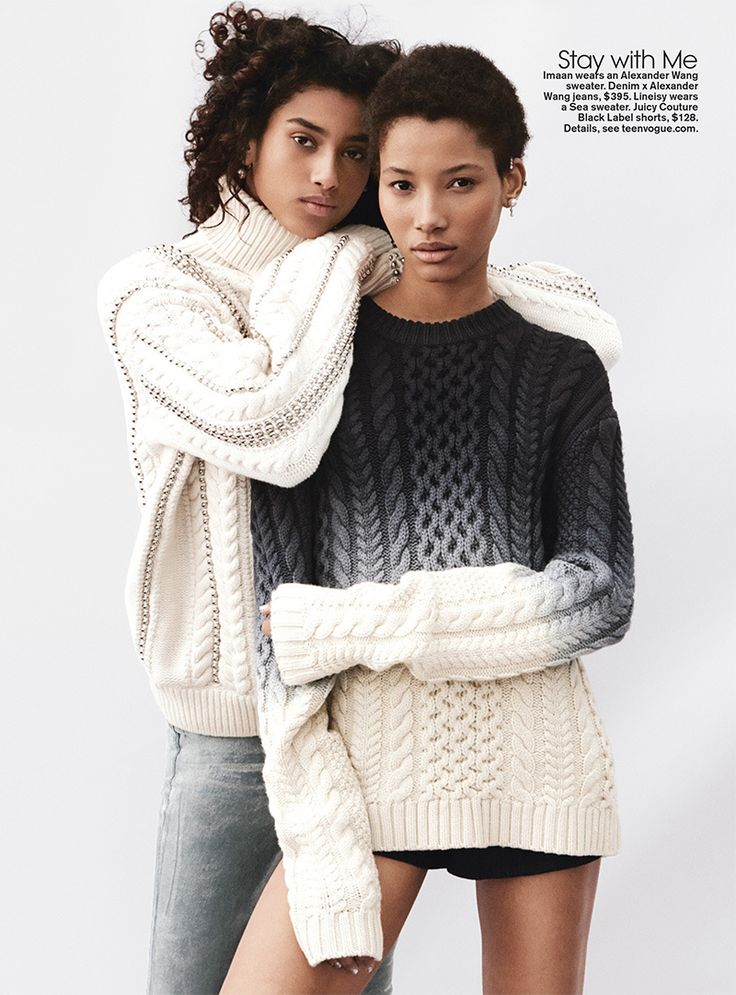 Imaan Hammam and Lineisy Montero for Teen Vogue August 2015