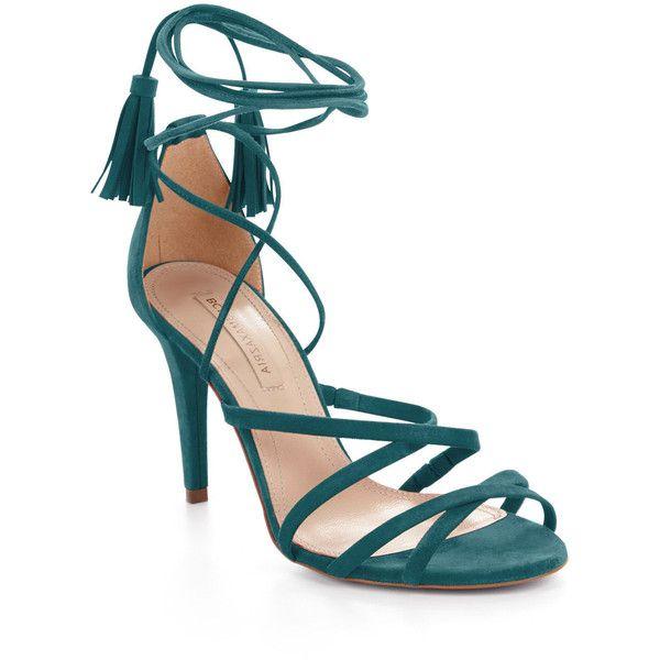 BCBGMAXAZRIA Lenita High-Heel Suede Strappy Sandal ...