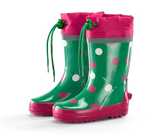 Čižmy do dažďa, zeleno-ružové