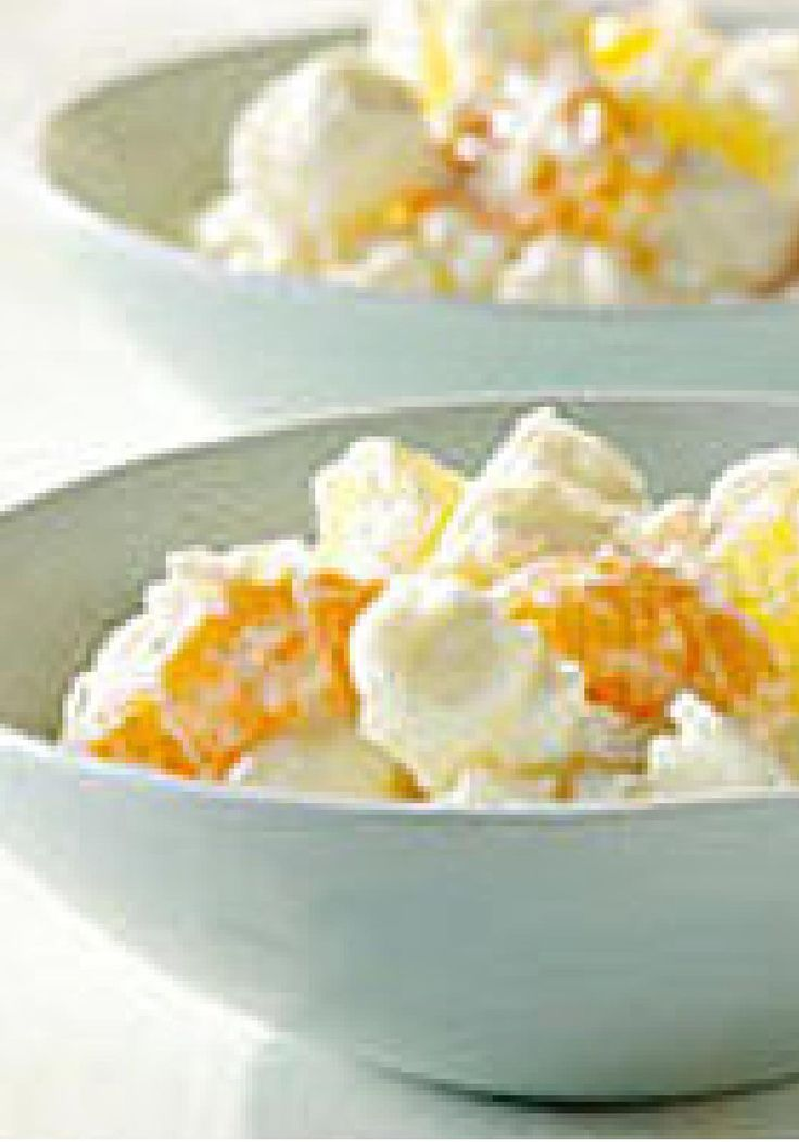 Five-Cup Fruit Salad — A cup each of 5 fabulous ingredients—pineapple, mandarin oranges, sour cream, coconut and marshmallows—adds up to one delicious fruit salad!