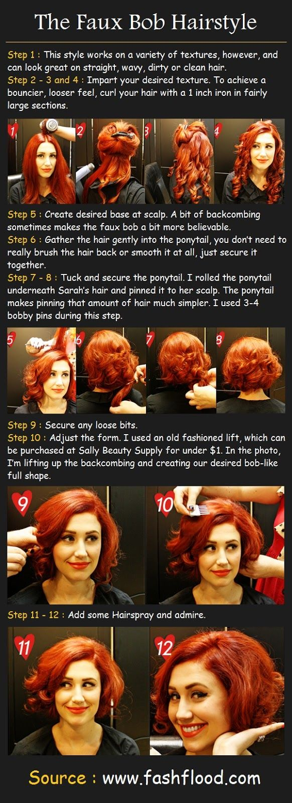 The Faux Bob Hair Tutorial | Beauty Tutorials for once my hair gets long and i think it's a good idea to cut it. when really, it's not okay to cut it.