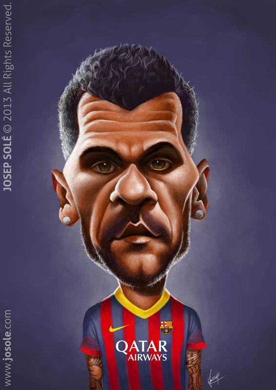 Caricatura de Dani Alves.