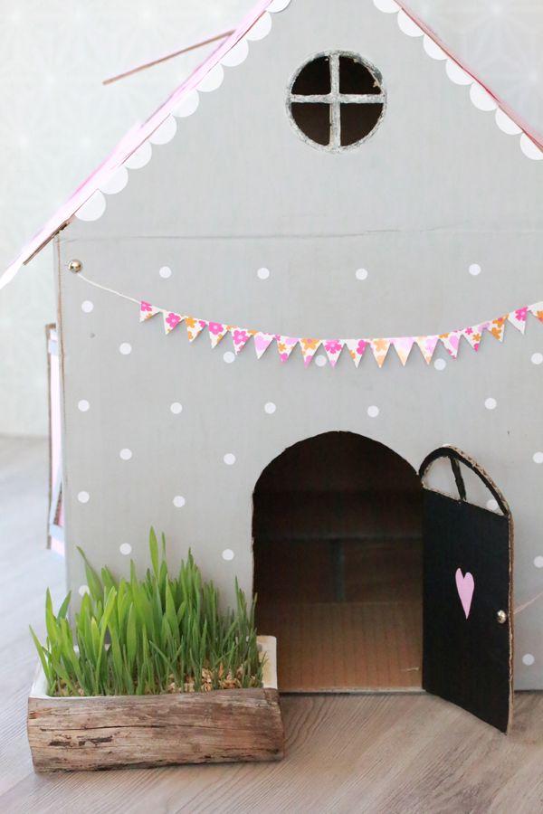 DIY: maak van een kartonnen doos een kattenhuis - Roomed | roomed.nl