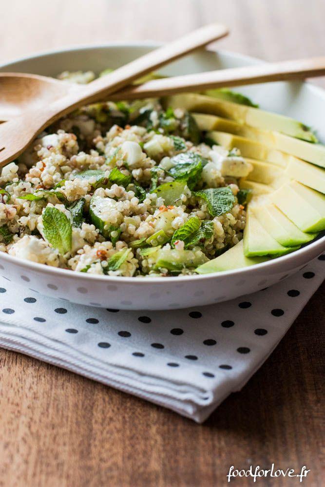 Assiette Complète Quinoa, Sarrasin, Avocat, Concombre, Menthe et Fêta - Food for Love