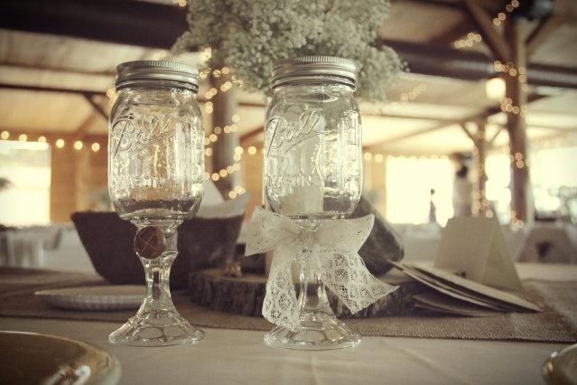 33 best ideas about mason jars on pinterest straws escort cards and vintage paper - Stemmed mason jars ...