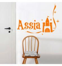 Stickers personnalisé prénom francais château