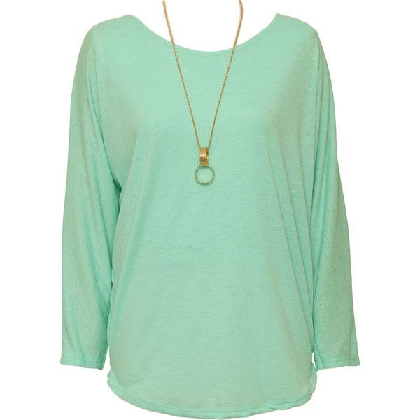 Kasey Crepe Lined Batwing Blouse ($25) ❤ liked on Polyvore featuring tops, blouses, mint green, bat sleeve tops, green top, long sleeve batwing top, batwing sleeve tops and mint top