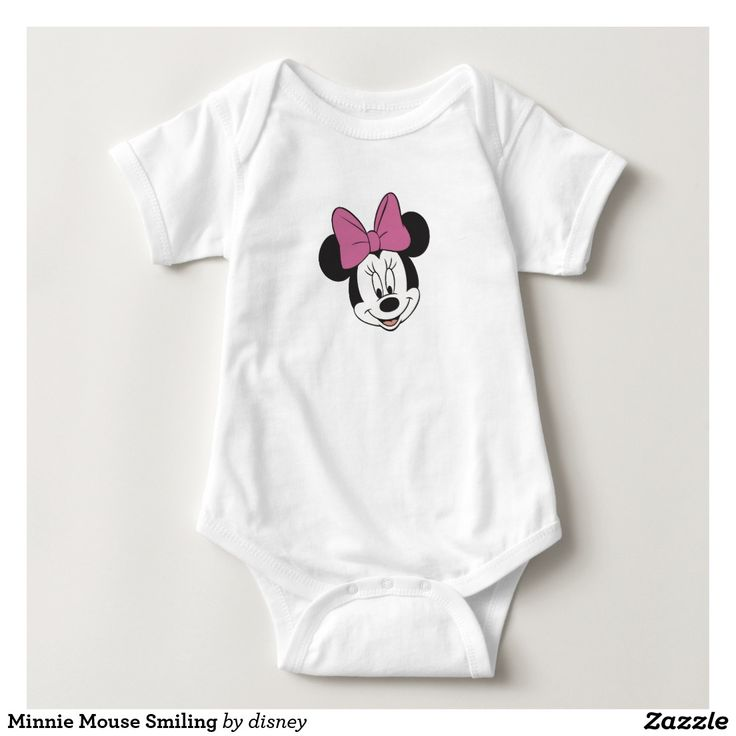 Minnie Mouse Smiling Baby Bodysuit