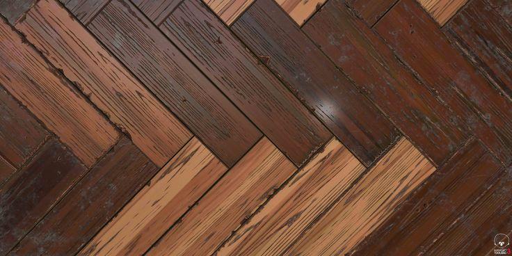 ArtStation - Herringbone wooden floor, Chan Yang