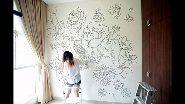 Fall In Love With Line Drawing Wall Murals | - Pinned by #AngelicaAngeli - angelicaangeli.com