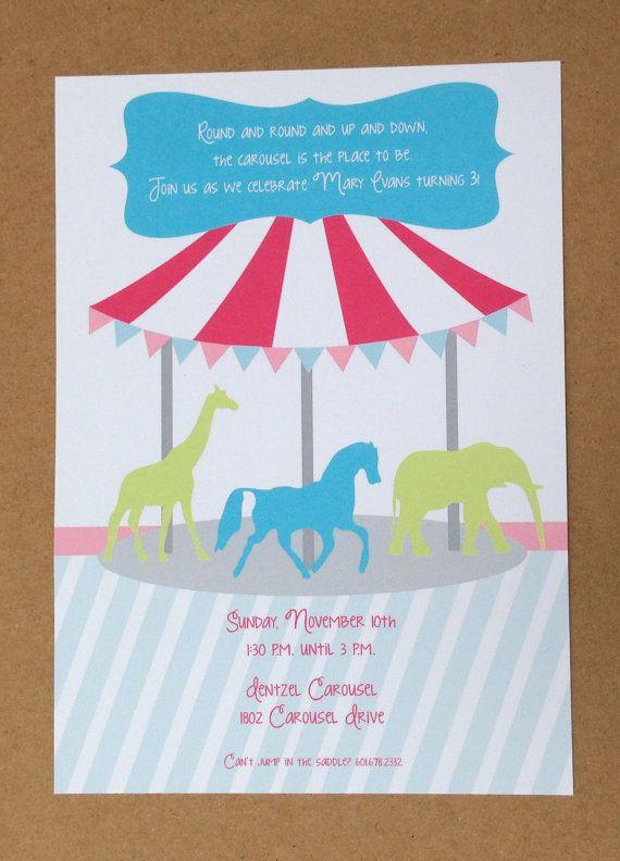 Carousel Birthday Invitation #phoebeandemmet