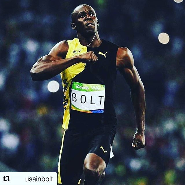 Usain Bolt retains his 100m title for a 3rd time.  #Repost @usainbolt with @repostapp ・・・ #legend #rio2016 #olympicgames