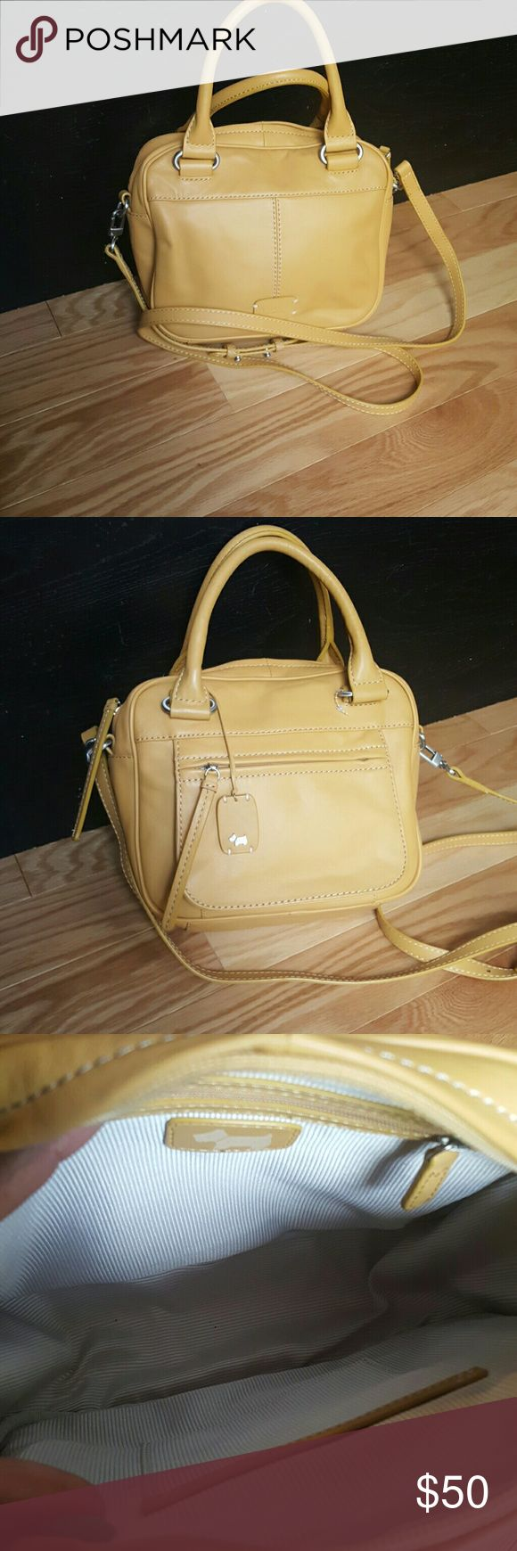 Radley ladies leather gloves - Leather Radley Purse Mustard Yellow Radley Purse Comes With Long Cross Body Strap In Excellent
