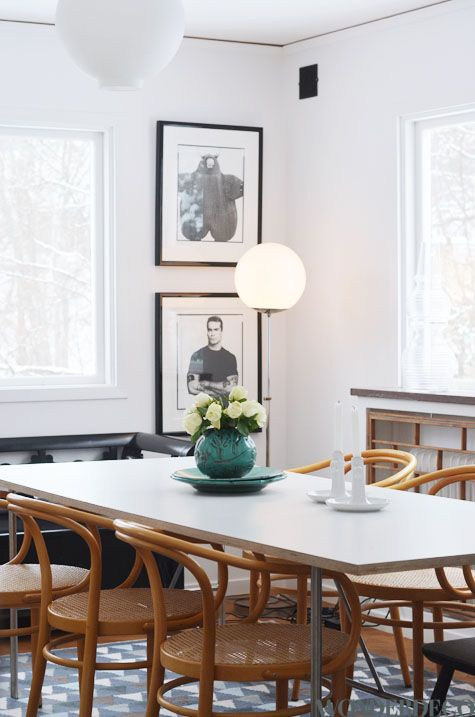 Dinning Room Decor A Splash Of Colour In Neutral Tone