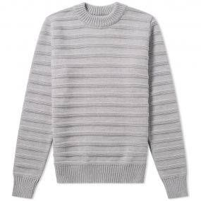 Arpenteur present a unique interpretation of classic French Activewear, offering a truly gallic alternative to the world of American workwear and heritage styling. The Malo Stripe Crew is an exceptional piece of knitwear boasting a wool construction with tactile ribbed stripes, cuffs and hem ensuring you remain warm when the cold months set in. 100% Wool Crew Neck Ribbed Cuffs & Hem Made In France