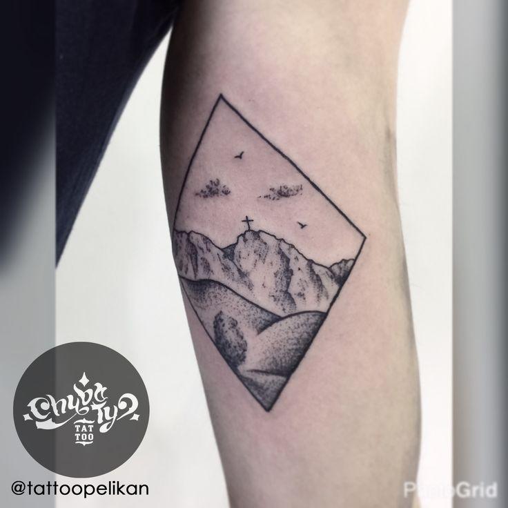 postcard by @tattoopelikan #chybatytattoo #katowice #tattoo #silesia #dotwork #dotworktattoo #dots #dot #dottattoo #darkart #polandtattoos #black #ink #blackwork #chybaty #tatry #mountains #mountainstattoo #mount #mounttattoo #giewont #postcard