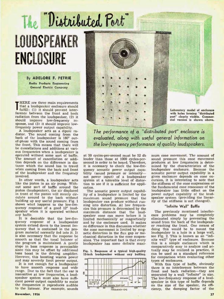 retro vintage modern hi-fi: The Distributed Port Loudspeaker Enclosure